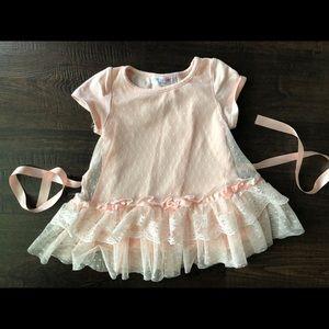 18/24 mo Peach frilly dress or tunic Mae Li Rose